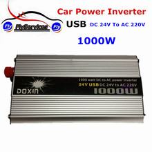 USB Interface 1000 Watt Dc to Ac Car Power Inverter USB DC 24V to Ac 220V Auto Inverter Emergency Power Supply Converter