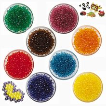 refill pack!  Jewels Aqua beads 8 colors Jewel Deluxe Set Crystal Bead Craft Water Spray Art Children DIY Gift 1600 pieces