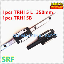 1pcs 100% Brand New TRH15-L350mm Linear Guide Rail(any length can cut) + 1pcs TRH15B Linear Guide block free shipping(China)