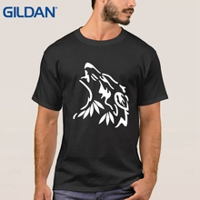 Metal For Men Tshirt Winter Is Coming The House Of Stark Winterfell Wolf Black Tee Shirt Round Collar Cotton(China)