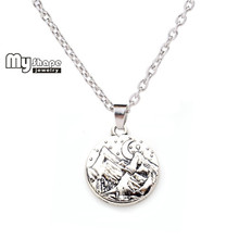 Buy shape Scenery Pendants Necklace Zinc Alloy Women Long Necklace Moon Star Mountain Engraved Charms Fashion Jewelry Unisex for $3.58 in AliExpress store