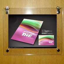 A4 Wall Hanging Clear Acrylic Plexiglass Floating Frames for Poster,Picture,Certificate YPD-001-2(China)