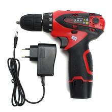 Doersupp 1PC 12V Mobile Electric Drill Power Tools Electric Screwdriver Lithium Battery Household Cordless Drill Best Price