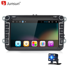 "Junsun T39 Android 6.0 Car DVD 2 Din Radio Player 8"" For VW Skoda Octavia POLO GOLF PASSAT 2G DDR3 Bluetoot Quad Core GPS Audio(China)"