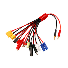 50pcs/lot Multifunctional Lipo Battery Multi Charger Plug Convert Cable 10 in 1 Transfer Line RC Hobbies Accessories