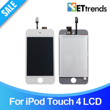 10PCS/LOT Quality AAA Original LCD Display for iPod Touch 4 LCD Screen Touch Digitizer Assembly Black/white DHL Free Ship