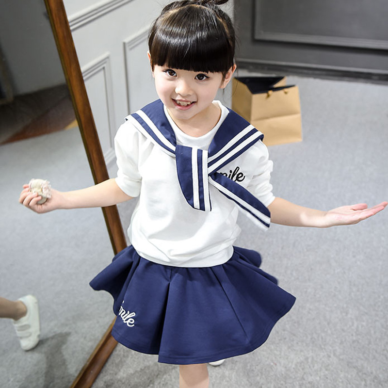 Toddler girl clothes 2 PC baby set long sleeve T-shirt + short skirt kids boutique clothing collection hot sales girls skirt<br><br>Aliexpress