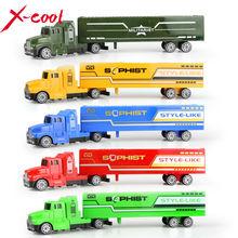 5 color Diecast Alloy and Plastic Truck Toy Model Car Container Green Truck Chirstmas Birthday Gift  for children