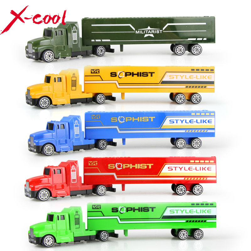 5 color Diecast Alloy and Plastic Truck Toy Model Car Container Green Truck Chirstmas Birthday Gift for children(China (Mainland))