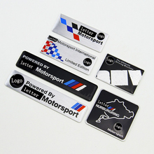 Car Motorsport Power by Limited Edition Motorsport International Racing Flag Race track 3D Metal Sticker With Logo Badge For BMW