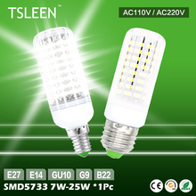 +Cheap+ Brighter SMD 5733 LED Corn Lamp Light Bulb White 110V/220V 7W 9W 12W 15W 20W 25W E14/E27/B22/G9/GU10 # TSLEEN