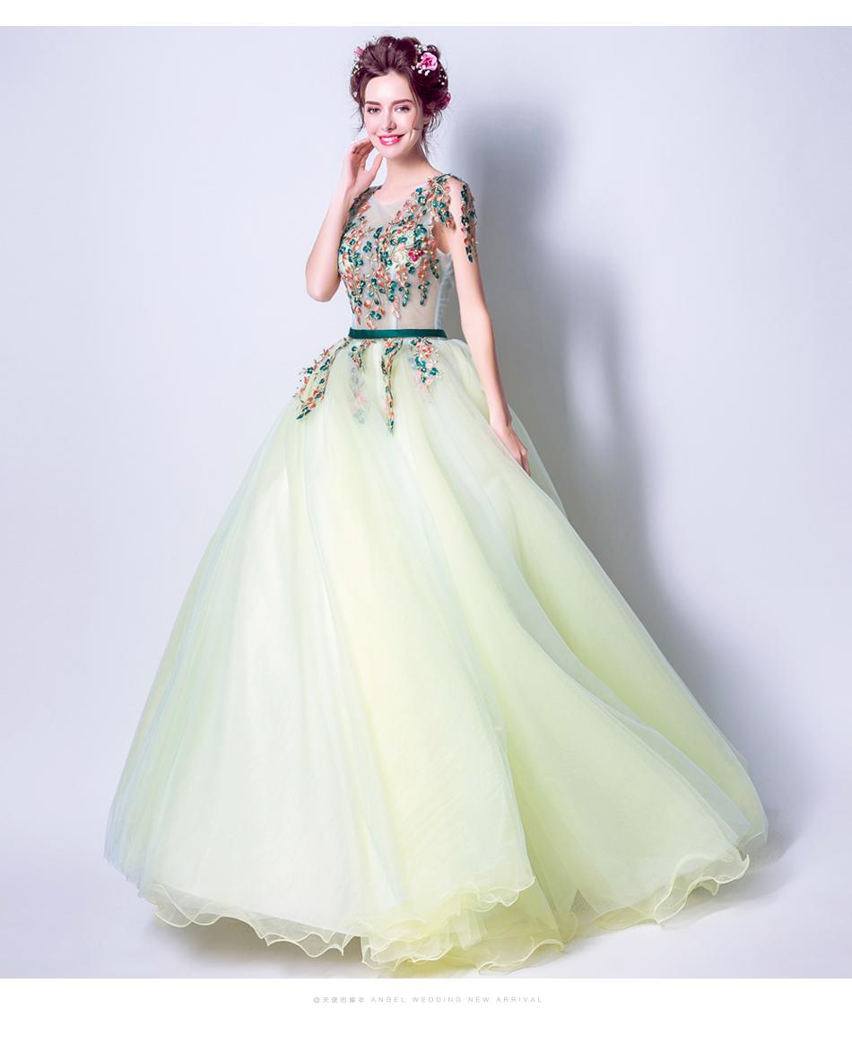 Angel Wedding Dress Marriage Bride Bridal Gown Vestido De Noiva 2017 Green, embroidery, the wizard of Oz 2217 13