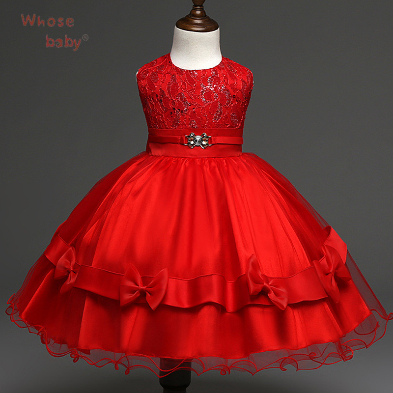 Flower Girls Dress Kid Toddler Tutu Layered Dress New Fashion Girls Wedding Birthday Party Vestido Menina Flores Dress 3-7 Years<br><br>Aliexpress