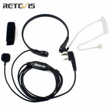 Retevis Throat MIC PTT Headset For Walkie Talkie Covert Acoustic Tube For Kenwood Baofeng UV 5R 888S Retevis H 777 Radio C9007A