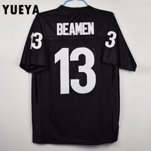 "YUEYA ""Any Given Sunday"" Movie Jerseys #13 Willie Beamen American Football Jersey Mens Cheap Black S-3XL"