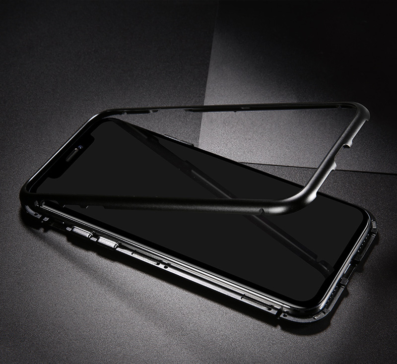 iPhone X Magnetic Back Case - Luxury Absorption Metal Case - regulustlk