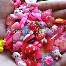Cheap Wholesale 50pcs/Lot Cute Flat Back Resin Mixed Designs Shipped By Random 10~25mm Lovely Resin Crafts For DIY Decoration(China)