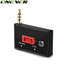 Onever Wireless 3.5mm In-car Audio FM Transmitter MP3 Modulator Music Radio Adapter LCD Display Hands-free For iPhone  Samsung