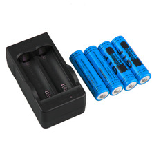 4pcs New 14500 3.7V 2800mAh Rechargeable Batteries 14500 Li-ion Battery + US Plug Charger Blue Yellow Red Wholesale