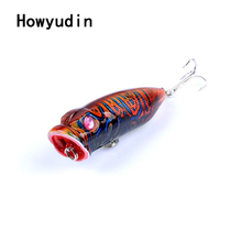 6.5cm/10.9g popper Streamlined fishing lure Colorful Paint wobbler Tropical series fishing lures isca artificial fish supplies(China)