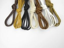Buy 2 get 1 free,New Round Wax Laces Waxed Shoelace String for Leather Shoe Boot  47''inches(120cm)