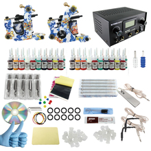 ITATOO Tattoo Machine Kit 2 Guns Professional Tattoo Kit Complete 40 Inks with Power Supply Clipr Cord Tattoo Supplies TK1000015(China)