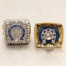 2pcs/Set 1970 2006 Indianapolis Colts Super Bowl replica championship rings  custom football championship ring   Robert Irsay