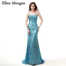 Sexy Mermaid Sequined Prom Dresses 2018 for Women Wear African Black Girls  Crystal Sweetheart Lace up 3325d82ff138