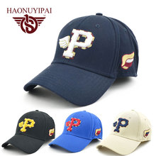 Adult Casul Hats Cotton Embroidered Letter P Baseball Cap Adjustable Hat For Men And Women Special Promotion Hat(China)