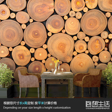 Mural Wood decorative wall mural 3D wallpaper shop bar Coffee hall living room TV wall 3D 3D wallpaper customization