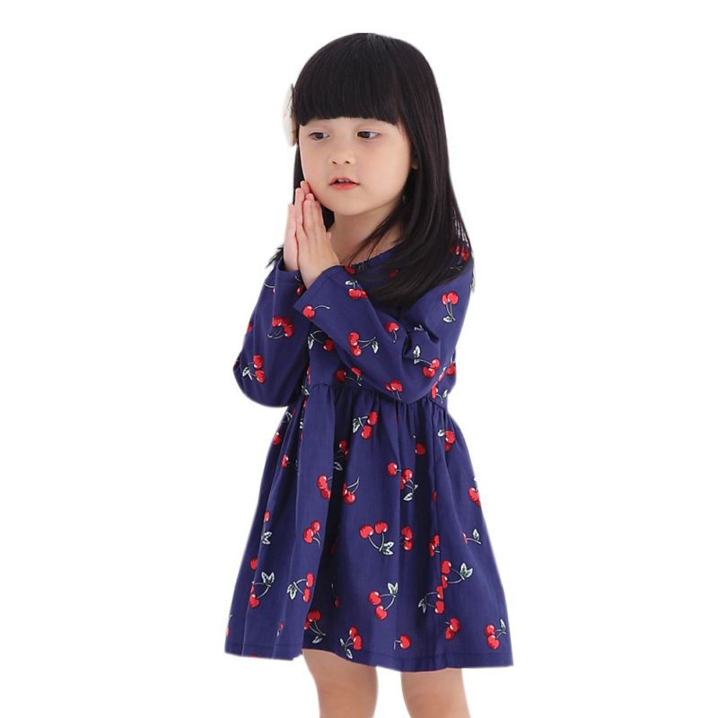 2017 Spring Baby Dress Long Sleeve Pirncess Girls Clothes Children Dresses For Girl Floral Clothing Vestidos<br><br>Aliexpress