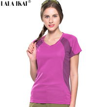 Pre Sale Women Outdoor Basic Breathable Tshirt Climbing Trekking Hiking Short Sleeve Tops Summer Quick-drying Shirt HWD0131-5