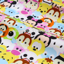 151219105 , 50cm*150cm Cute cartoon characters, super children like cotton fabric,handmade patchwork cotton cloth home textile(China)