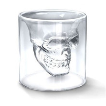 Hot Special Transparent Crystal Skull Head Shot Glass Cup for Whiskey Wine Vodka Home Drinking Ware(China)