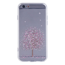 Charming Cherry Blossom Pattern Printed Silicone Phone Protective Case Cover Suitable For iPhone 5/5s/5se 6/6s 6plus/6splus