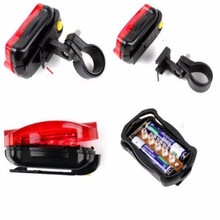 world-wind#3011 Bicycle Bike Cycling 5 Led Tail Rear Safety Flash Light Lamp Red With Mount free shipping