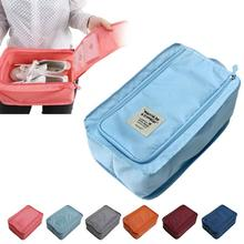 2016 New fashion Nylon & Mesh Travel Portable Tote Shoes Pouch Waterproof Storage Bag 6 colors available retail/wholesale(China)