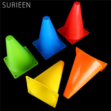 6Pcs 18cm Traffic Agility Cones Marker Safety Soccer Football Practice Training Marker Sports Field Orange Red Yellow Blue Green