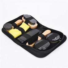 7 Pcs / Set Shoe Brush Professional Shoe Care Tool Kit High Grade Neutral Shoes Shine Polish Cleaning Smooth Wooden Brushes Set