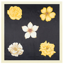 Silk Scarf For Women 2017 New Arrive Fashion Yellow Flowers Printed Scarves And Shawls