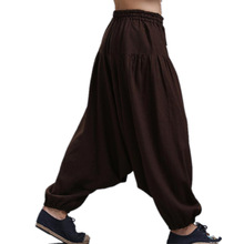 Men's Cross-pants crotch pants,wide leg pants dancing Harem pants pantskirt bloomers Harem  trousers,16 COLORS plus size M-5XL