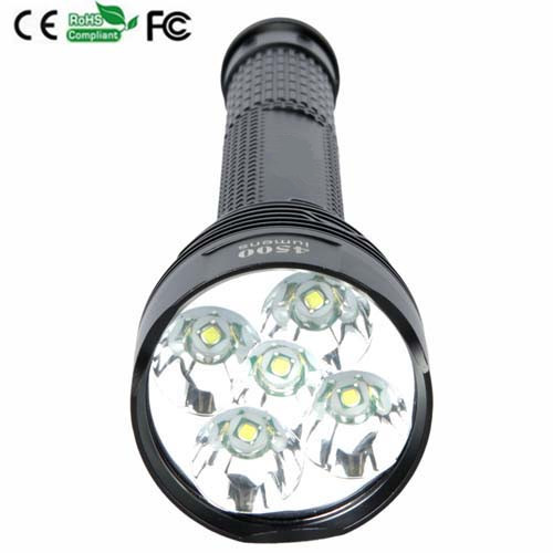 5-Mode 4500LM J12 5xCree XML T6 LED Flashlight Torch Lamp Flash Light Use 26650 Rechargeable Battery<br>