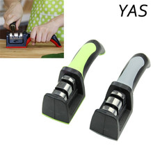 YAS 2 Stages Diamond Ceramic Kitchen Knife Sharpeners Sharpening Stone Household Sharpener Kitchen Stainless Steel Knives Tools