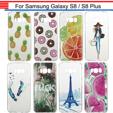JURCHEN Case For Samsung Galaxy S 8 S8 Plus G950 G955 Silicone Cartoon Fashion Soft Cover Case For Samusng Galaxy S8 Case Hoesje
