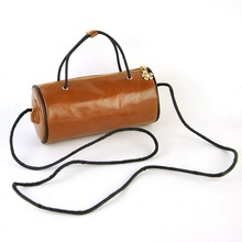 Women Genuine Leather Small Shoulder Handbag Casual Fashion Vintage Purse Retro Bag Mobile Cellphone Barrel Pouch Cute Mini Bags(China)