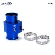 TANSKY - Racing Blue Water Temperature Sensor Adapter Radiator Hose TEMP Gauge Joint Pipe For Mustang GT V8 05-10 TK-WT28-40MM(China)