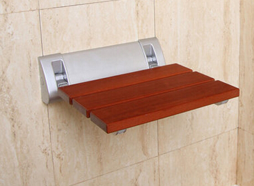 Solid wood folding shower seat spacing saving wall mounted morden seat relaxation folding chair waiting chair wall chair<br>