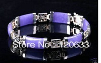 Fashion beautiful Charming lucky purple gem Bracelet bangle men's wholesale 2pcs < 1 Pair > men vintage Bracelets(China)