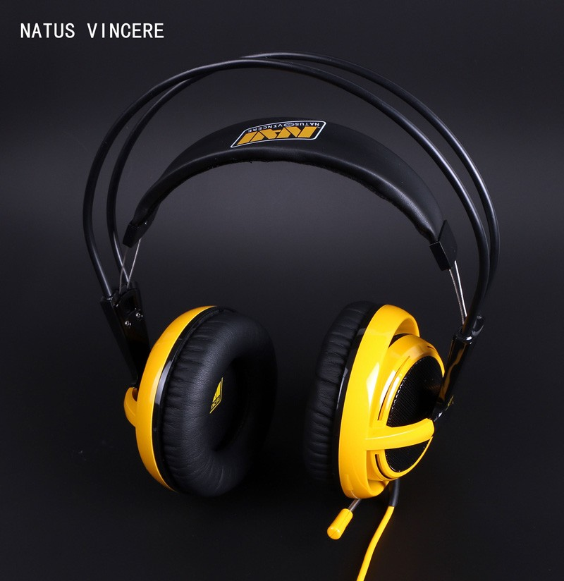 Steelseries Siberia V2 Natus Vincere Edition Gaming Headphone Noise Isolating Game Headphones Headset for Gamer + sound card<br>