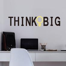 Free Shipping New Personalized Think Big Wall Lettering Words Decal Vinyl Quote Sticker Decor